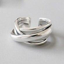 Vintage 925 Sterling Silber Geometrische Unregelmäßige Ringe für Frauen Hochzeit Einstellbare Antike Erklärung Ringe Anillos