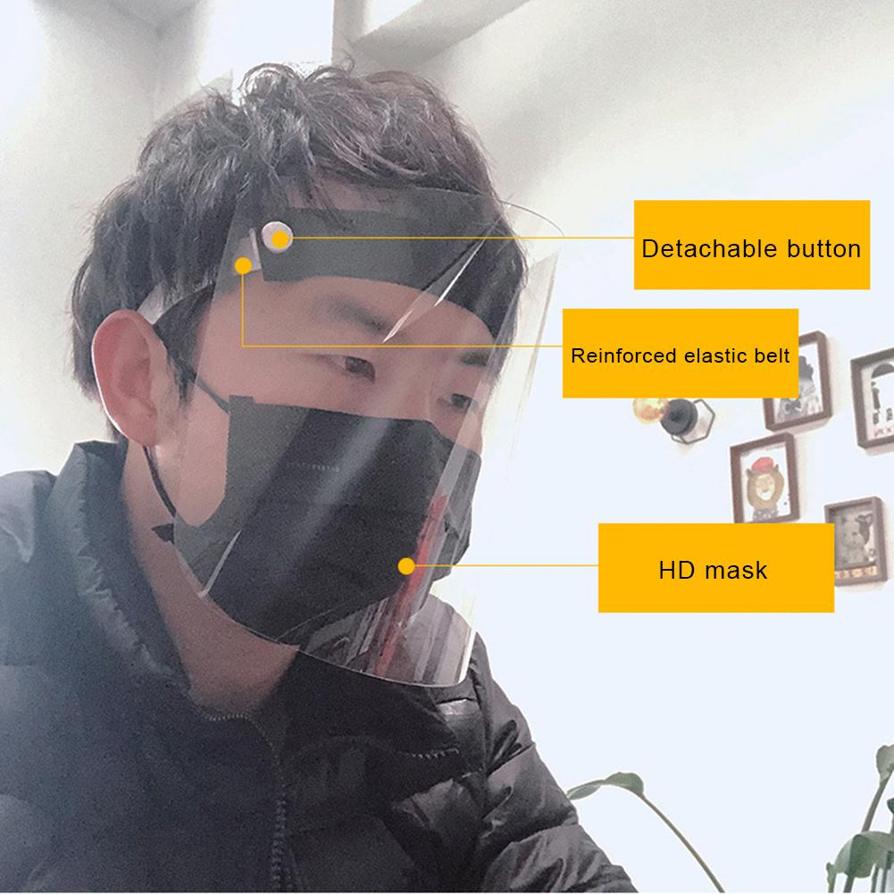 Transparent Anti Splash Dust-proof Protect Full Face Covering Mask Visor Shield Visiera Protettiva Viso Mascarilla Protectora