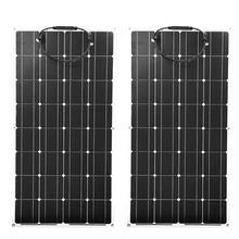Monokrystaliczna folia PET pół elastyczny panel słoneczny 100w 200w 300w domowe fotowoltaiczne panele słoneczne gospodarstwo domowe RV tanie tanio CNSDPV CN (pochodzenie) 1050mm*540mm*2 5mm BSP 32-100 Monokryształów krzemu PET solar panel 32pcs 125mm*125mm solar cell
