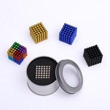 Новые 5 мм 216 шт магнитные шарики для нео-Кубы с металлической коробкой
