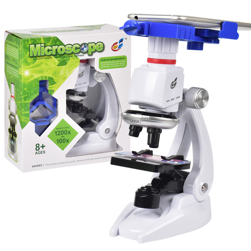 Student Science Experiment Equipment with Mobile Phone Bracket Biological Microscope Children's Early Education Educational Toys