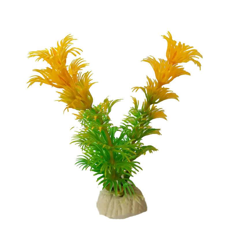 1 pçs decorações artificiais do tanque de peixes aquário plantas de plástico artificial decoração paisagem do aquário