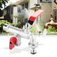 Válvula dupla de 90 graus água da torneira 1/2 polegada bronze torneira casa ao ar livre ferramenta jardim|Peças para máquina de lavar| |  -