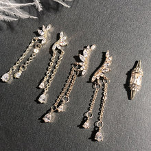 5 шт 3D Ангел крылья кисточкой Кулон Циркон дизайн ногтей хрустальный металлический Маникюр Аксессуары для ногтей для DIY украшения ногтей Подвески для ногтей