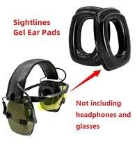 Sightlines เจลหูสำหรับ Howard Leight Impact Sport อิเล็กทรอนิกส์ยิง Earmuff การล่าสัตว์การป้องกันการได้ยินชุดหูฟังยุทธวิธี