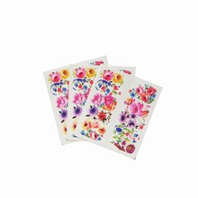 Nail Sticker Set Decal Bright flowers Water Transfer Slider For Nails Art Decor 3pcs A22