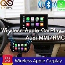 2020ワイヤレスapple carplayアウディA1 A3 A4 A5 A6 A7 A8 Q2 Q3 Q5 Q7 mmi車再生androidの自動ミラー逆カメラ