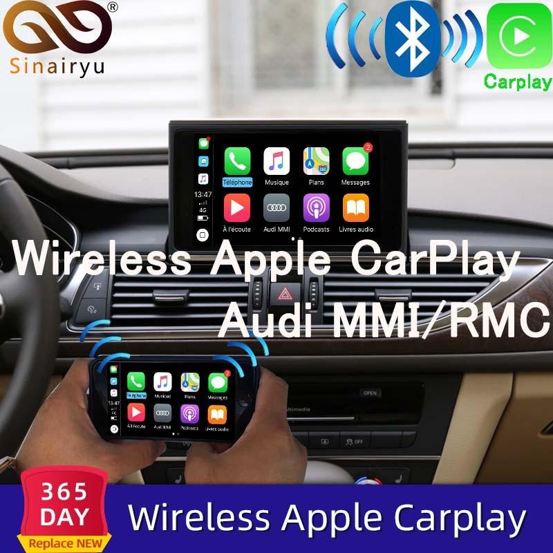2021 sem fio apple carplay para audi a1 a3 a4 a5 a6 a7 a8 q2 q3 q5 q7 mmi carro jogar android espelho automático câmera reversa