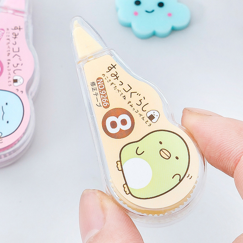 Cute Novelty Cartoon Donut Shaped Design White-Out Correction Tape for School Kids Students Pink