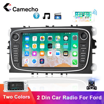 Camecho Android 8.1 2 Din Car Radio GPS Multimedia Player For Ford Focus 2 Mk2 EXI MT 3 S-Max Mondeo Galaxy II Kuga C-Max NO DVD image