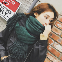 USPOP 2019 Winter scarf long women scarves female thick warm soft tassel Pashmina mixed color shawl casual herringbone pattern tassel edge shawl pashmina