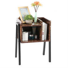 Bedside Table Stylish Nightstand Stackable End Side Table with Vertical Storage Unit