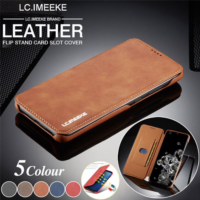 Luxury Ultra Thin Leather Case Flip Cover for Samsung S20 Ultra S10E S10 plus S8 S9 S7 edge A71 A51 A70 A50 A20 A20e Note9 case