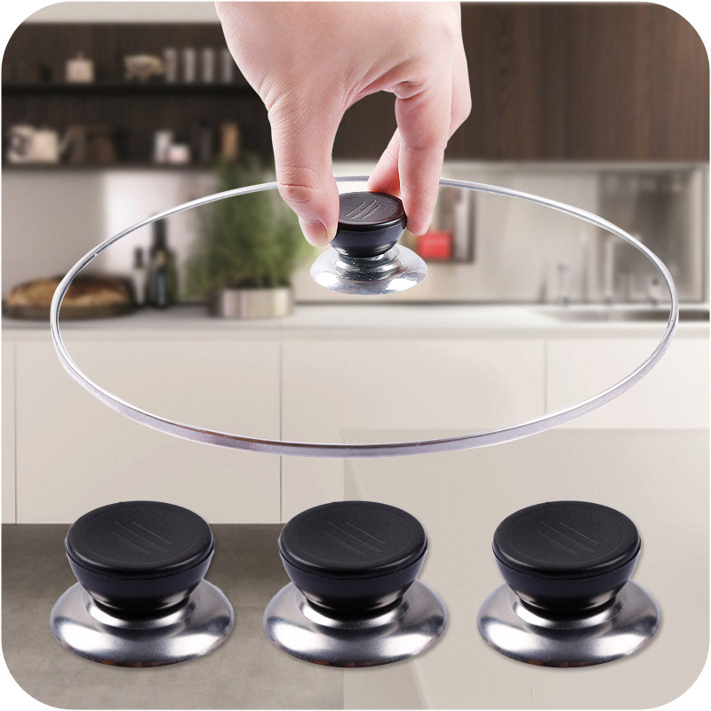 Creative 3pcs Lid Handle Kitchen Cookware Replacement Utensil Pot Pan Lid Cover Circular Holding Knob Screw Handle 2020 New