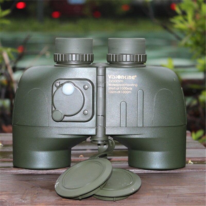 Visionking Low-Licht Nachtsicht mit Kompass Reicht Military Navigation Drachen 7x50 HD Fernglas Dragon7x50