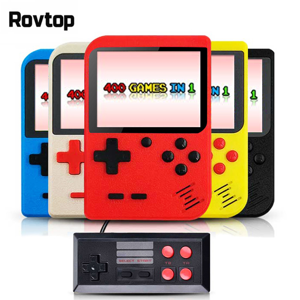 Rovtop Portable Handheld Game Players Retro Game Console Built-In 400 Games Support 2 Player 8-Bit 3.0 Inch  For Child Nostalgic