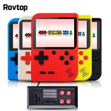 Rovtop портативные игровые проигрыватели чехол для телефона в виде ретро-игровой консоли встроенный 400 игр Поддержка 2 плеер 8 бит 3,0 дюйма для детей Ностальгический