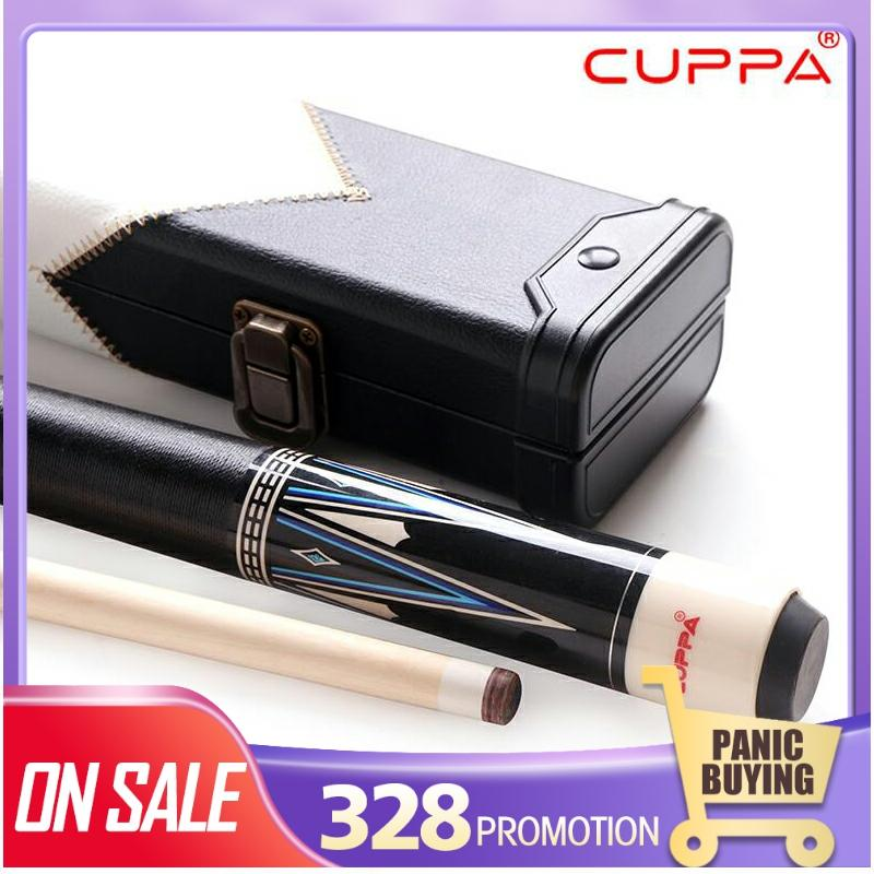 Cuppa Carom Cue 11.75mm 13mm Tiger Red Line Tip MEZZ Joint Maple Shaft 3 Cushion Game Cue Professional Kit With Excellent Gift