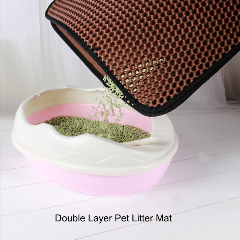 Pet Litter Mat With Double Layer Waterproof Clean Pad Accessories For Dog Cat Toilet