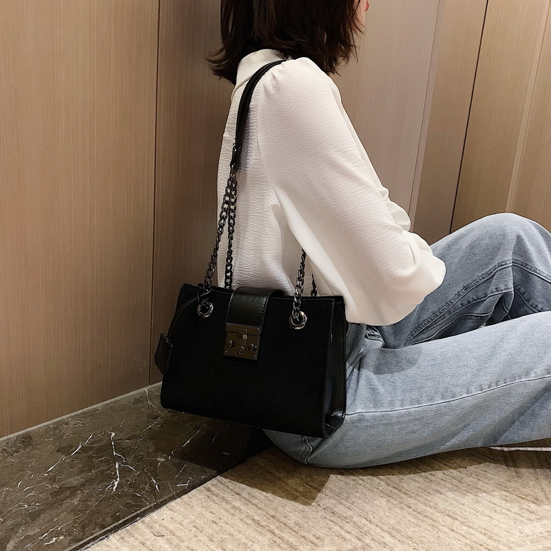 Scrub Leather Crossbody Bags For Women 2019 Small Luxury Quality Shoulder Messenger Bag Female Travel Chain Handbags and Purses