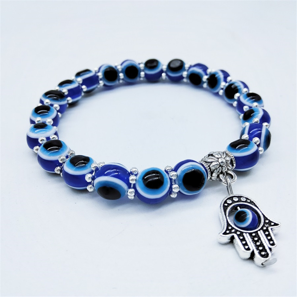 Fashion demon eye fatima bracelet transfer beads ins niche bracelet blue eye evil bracelet