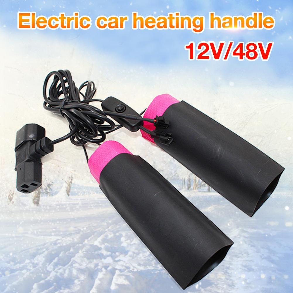 Universal Motorcycle Heated Grip Pads 12V/48V Heated Grips Inserts Handlebar Hand Warmers Fits