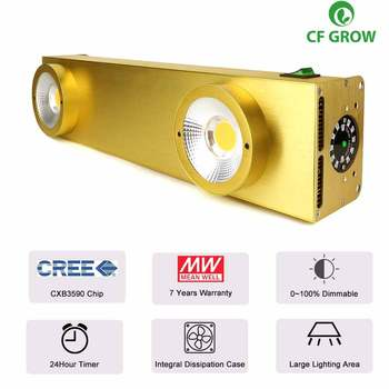 CREE CXB3590 COB LED Grow Light Full Spectrum 200W for Indoor Plant Growth Panel Lamp With Dimmable MeanWell Driver & Timer