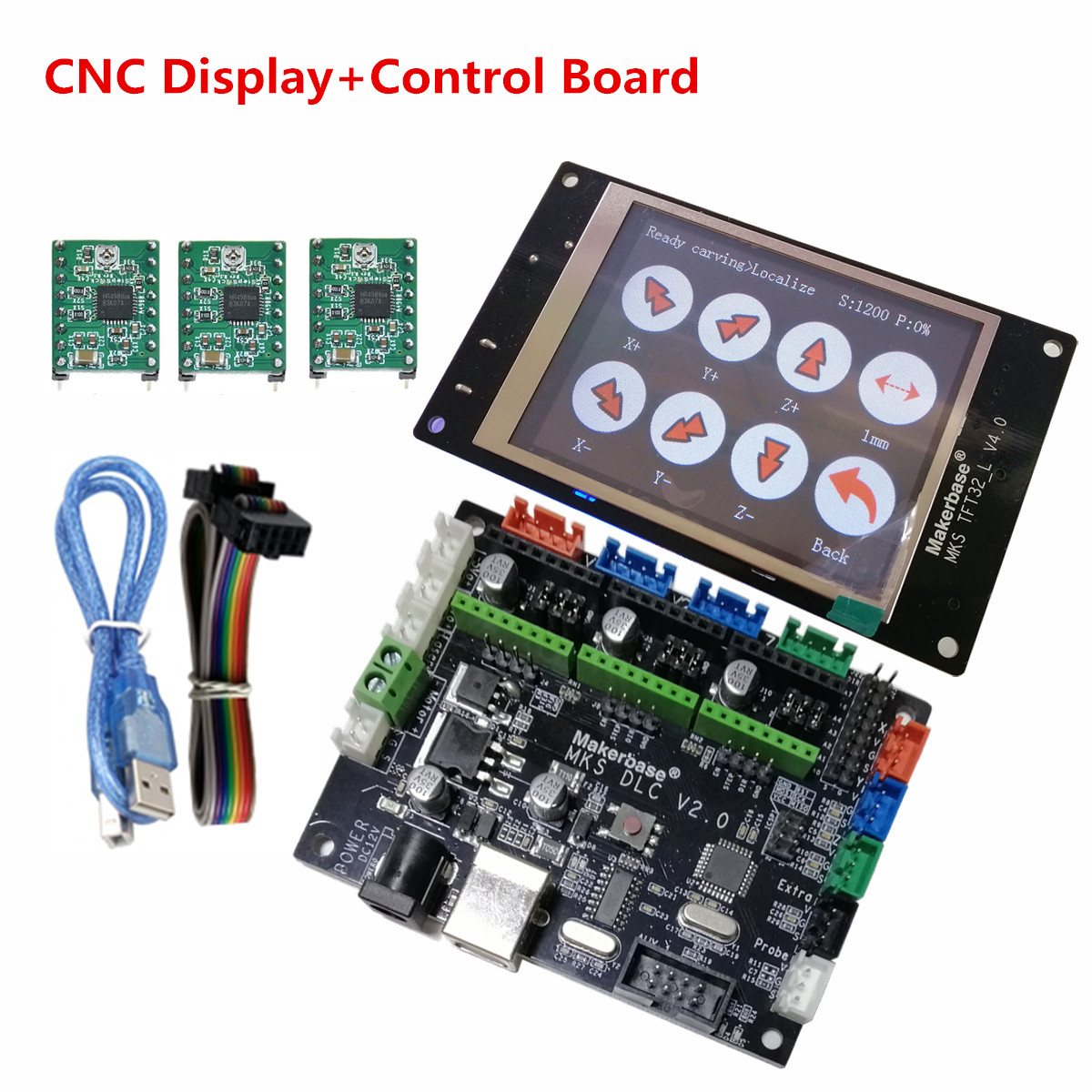 GRBL OFFLINE CNC Controller Plate Motherboard + TFT32 CNC LCD Touch Screen DIY Module For CNC Laser Engraving Drawing Machine