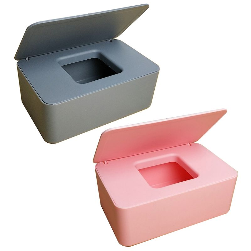 Wet Tissue Storage Box Plastic Case Home Car Office Wipes Holder Fit for 80 Wipe