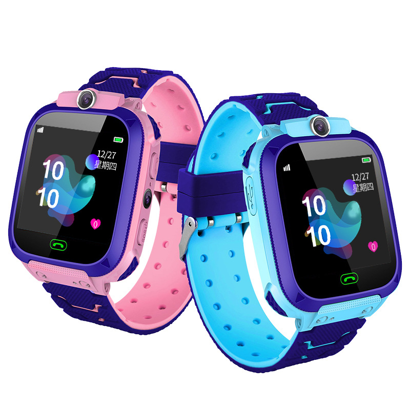Q12B Children'S Watches 1.44 Inch Touch Screen Kids Smart Phone Watch Front-Facing Camera SOS Call Safety Zone Alarm Kids Gifts