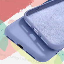 Жидкий силиконовый чехол для xiaomi redmi 9a 9 9c note 9s 8