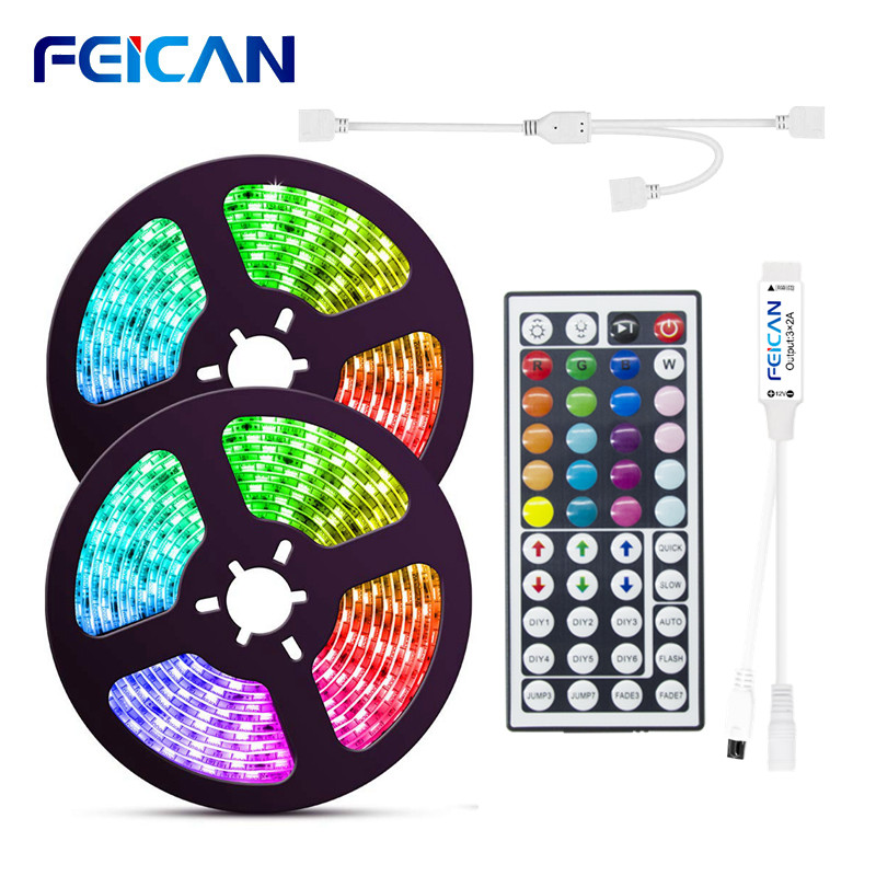 LED Strip Light RGB 5050 2835 LED Light Strip Waterproof 12v 10M 15M RGB Tape with RGB Controller Flexible Ribbon Ambilight