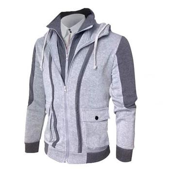 Casual Men Jackets Coats Winter Thick Warm Zipper Hooded Jackets Fake Two Pieces Sports Sweatshirt Men's Clothing dispel cold 8