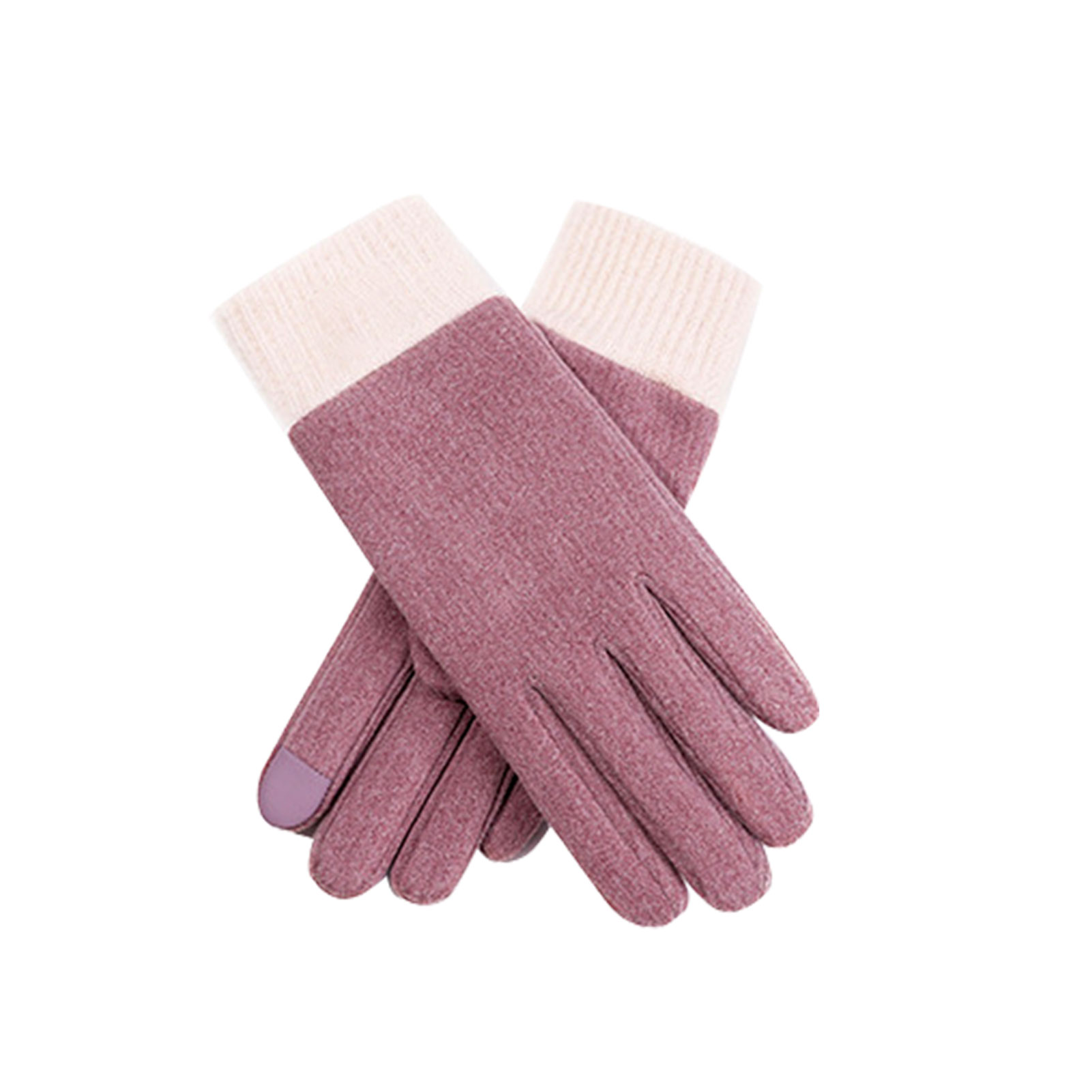 1pair Outdoor Sport Full Finger Ladies Skiing Women Gloves Self Heating Thick Soft Mittens Keep Warm Stretch Autumn Winter