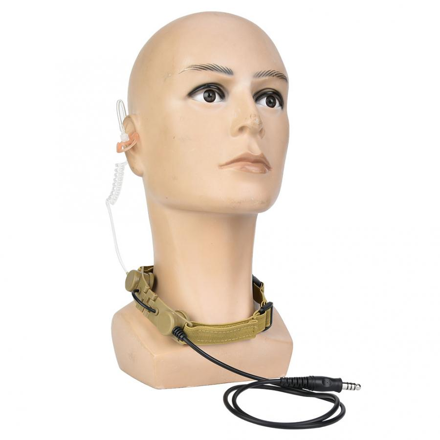 Microphone Headset Band Throat Mic Adapter For Tactics Detective Headphone Anti-Noise Headset For Outdoor /Hunting Accessory