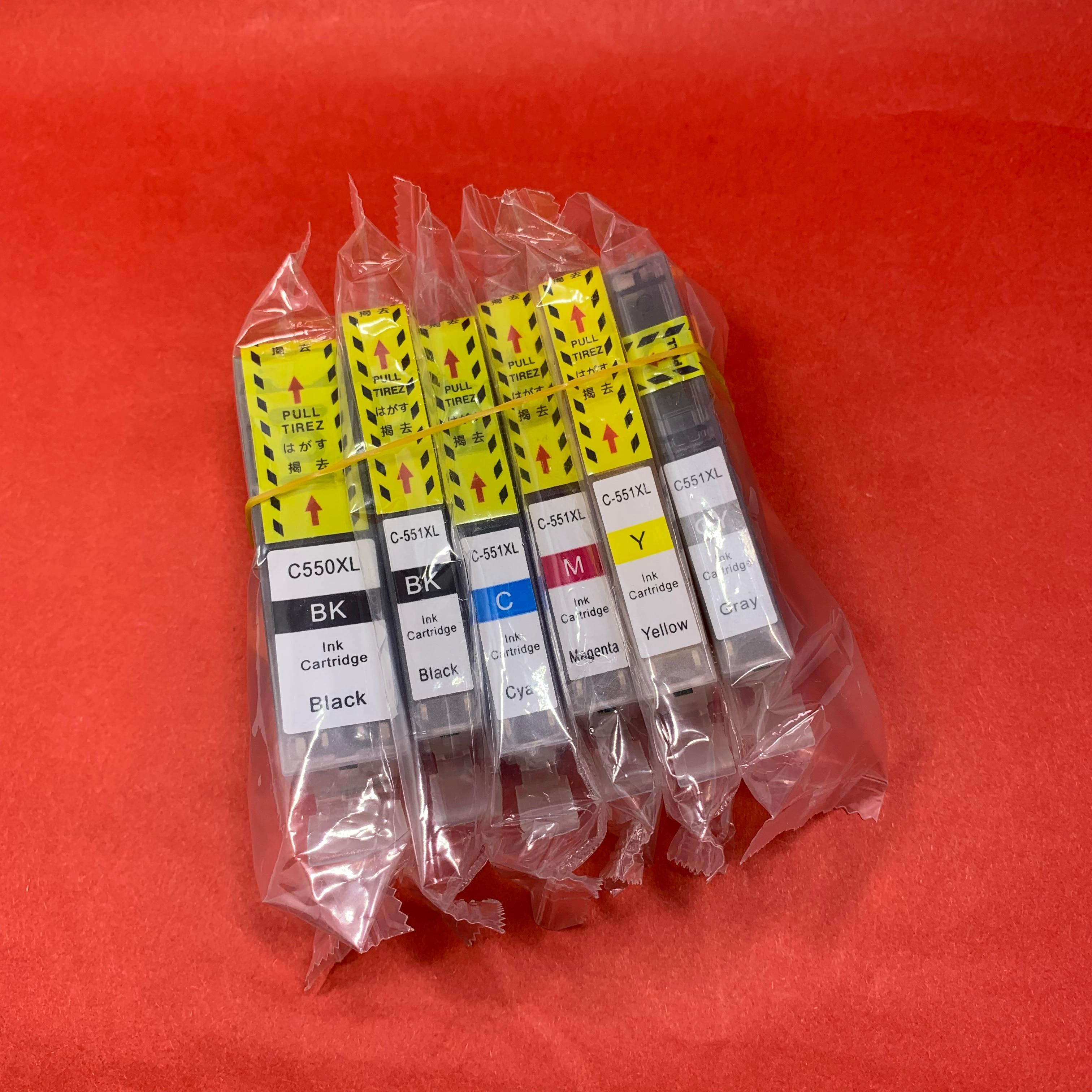 YOTAT 6 шт. совместимый чернильный картридж PGI-550XL PGI-550 для принтера Canon PIXMA MG6350
