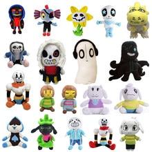 Peluches Undertale de 20 à 30 cm, 20 style différents, jouet pour enfants, divers personnages, Sans, Papyrus, Ootopus Music, Alphys, idéal comme cadeau,