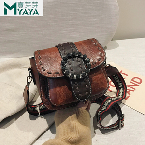 Image 1 - MAIYAYA Leather Shoulder Bag For Woman 2020 New Fashion Small Crossbody Bags Zippers Decoration Spring Flap Bags Messenger Bag