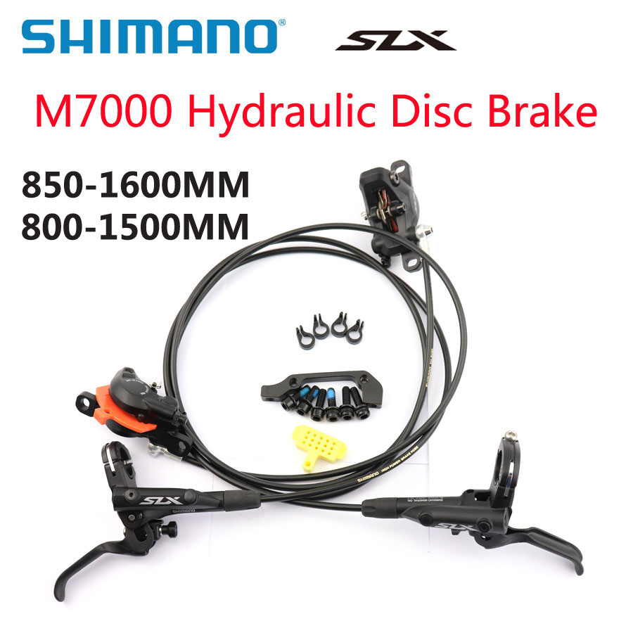 SHIMANO DEORE SLX M7000 M7100 Brake Mountain Bikes Hydraulic Disc Brake BR BL M7000 Front&Rear 800/850MM-1500/1600MM