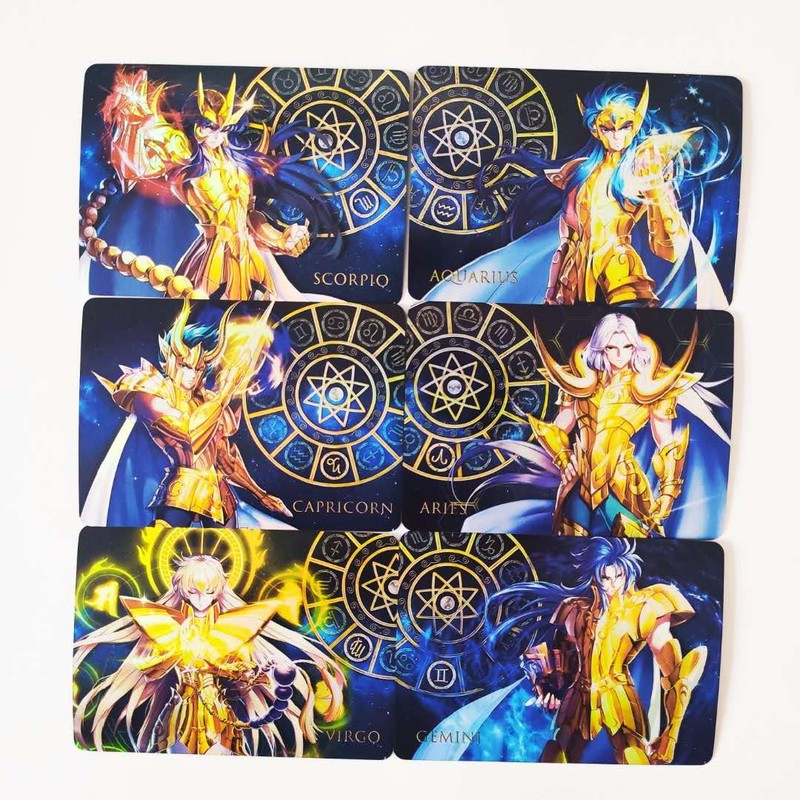 12pcs/set Saint Seiya Twelve Gold Saints Astrolabe Of Destiny Hobby Collectibles Game Collection Anime Cards Limited