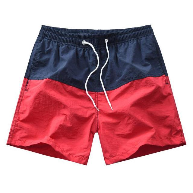 Men's Elastic Soft Breathable Shorts Fashionable Simple Color Block Household Shorts Loose Beach Casual Shorts