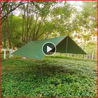 3x4 m Beach Sun Shelter Tent Tarp Mosca da Chuva UV À Prova D' Água Barraca de Camping Toldo Toldo Sol Ao Ar Livre Sombra dossel para Praia|Barraca de sol| |  -