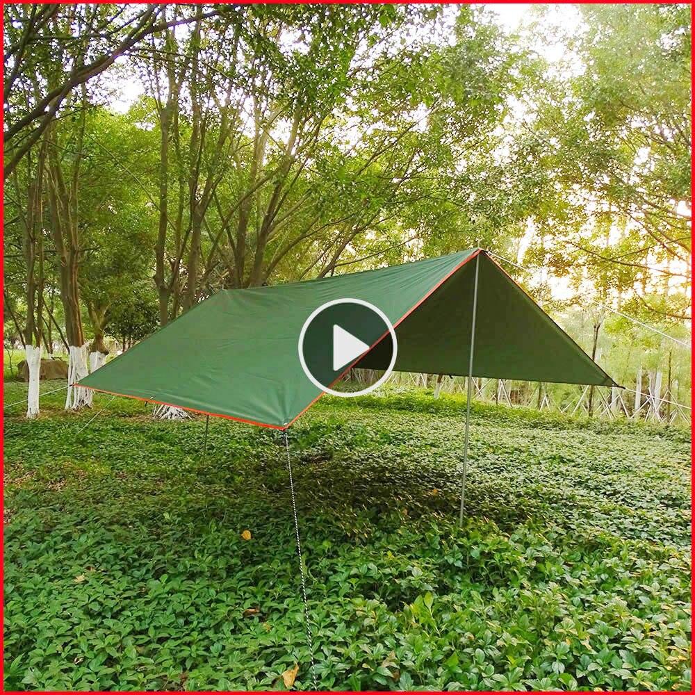 Ligero port/átil Impermeable para Senderismo Pesca Picnic Camping Carpa Tienda de campa/ña para la Playa Sombra Sol Refugio toldo toldo con Postes