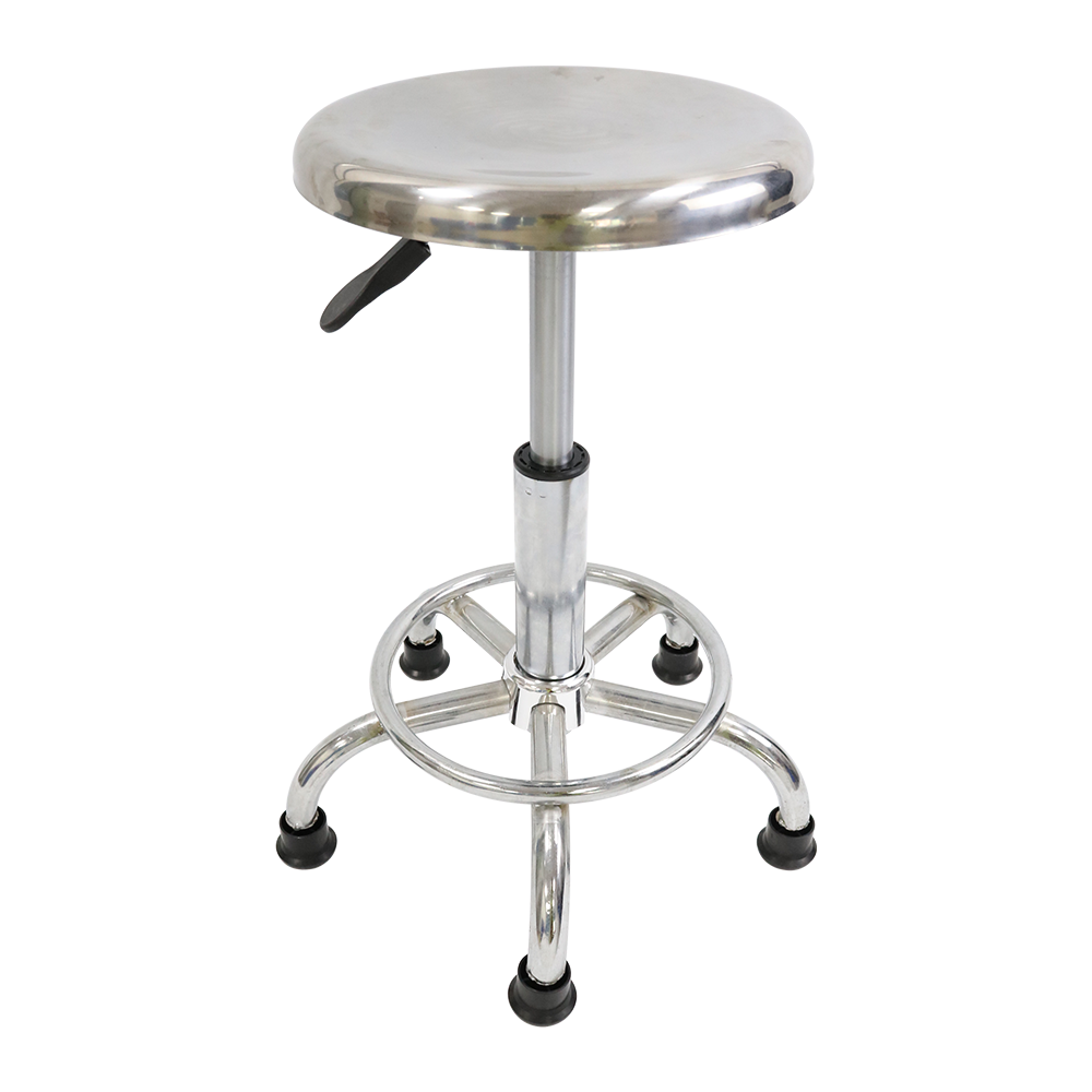 Height 43-56cm Durable Stainless Steel ESD Backless Stool