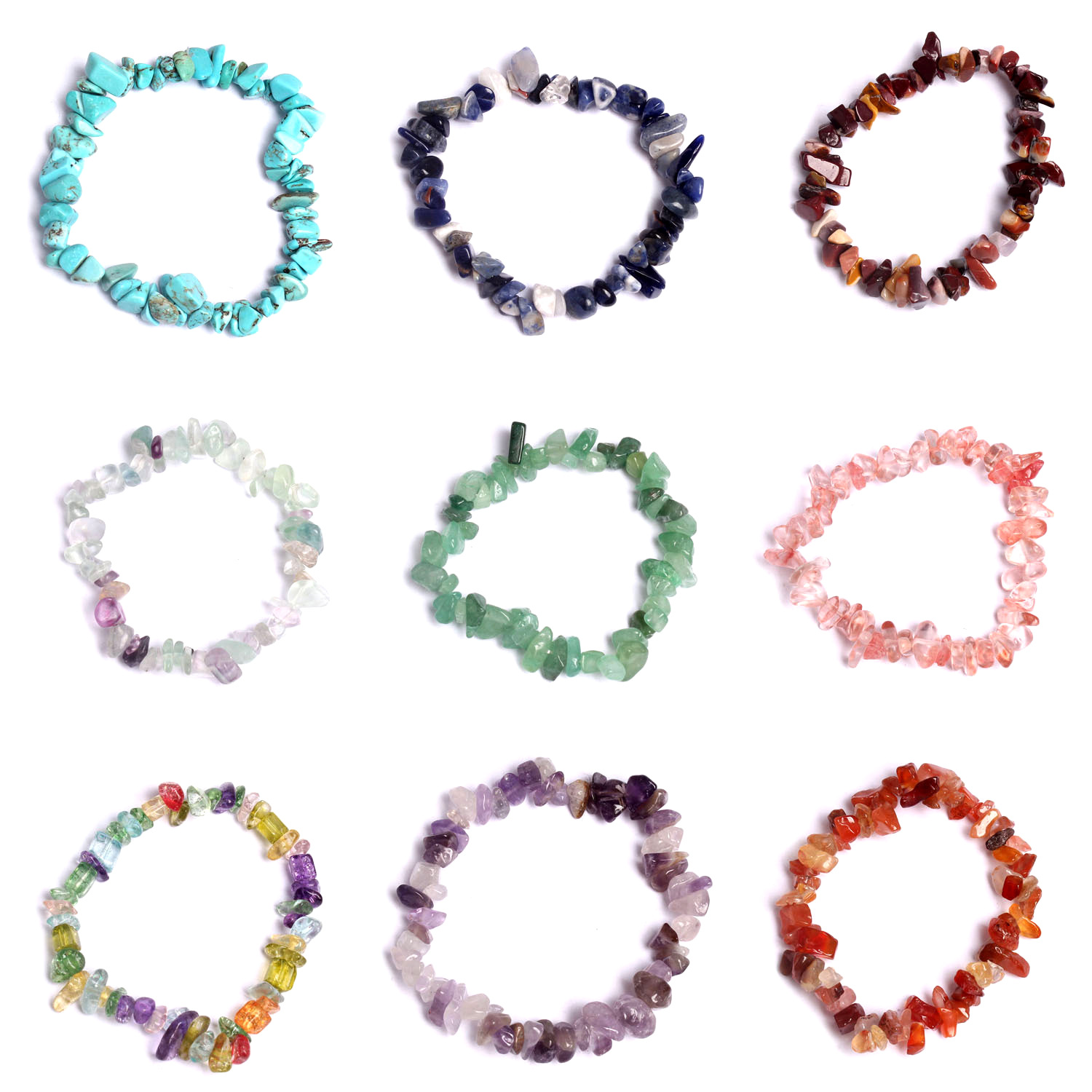 Natural Stone Hot Sale Natural crystal Amethysts Bracelet Charms Elastic Rope Bracelets Gift for Girl Friend Summer Cool Jewelry in Strand Bracelets from Jewelry Accessories
