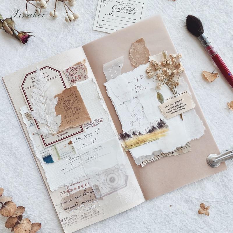 Satz von 6 Vintage floral runden Holz Scrapbooking Hochzeit Stempel  0U