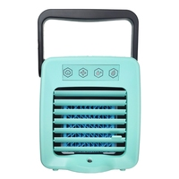 Top Deals Usb Mini Portable Air Conditioner Arctic Air Cooler Humidifier Purifier Led Light Personal Space Fan Air Cooling Fan B
