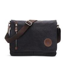 Casual Business Messenger Bags for Men Shoulder Bag Canvas Crossbody Shoulder Pack Lightweight Retro Office Travel Bag Book Bag цены