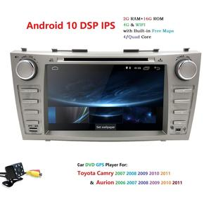 """Image 2 - 8 """"Android 10.0 Auto Stereo Dvd Radio Voor Toyota Camry Aurion 2007 2008 2009 2010 2011 Gps Navigatie Swc bt OBD2 2 Gb Ram + Camera"""