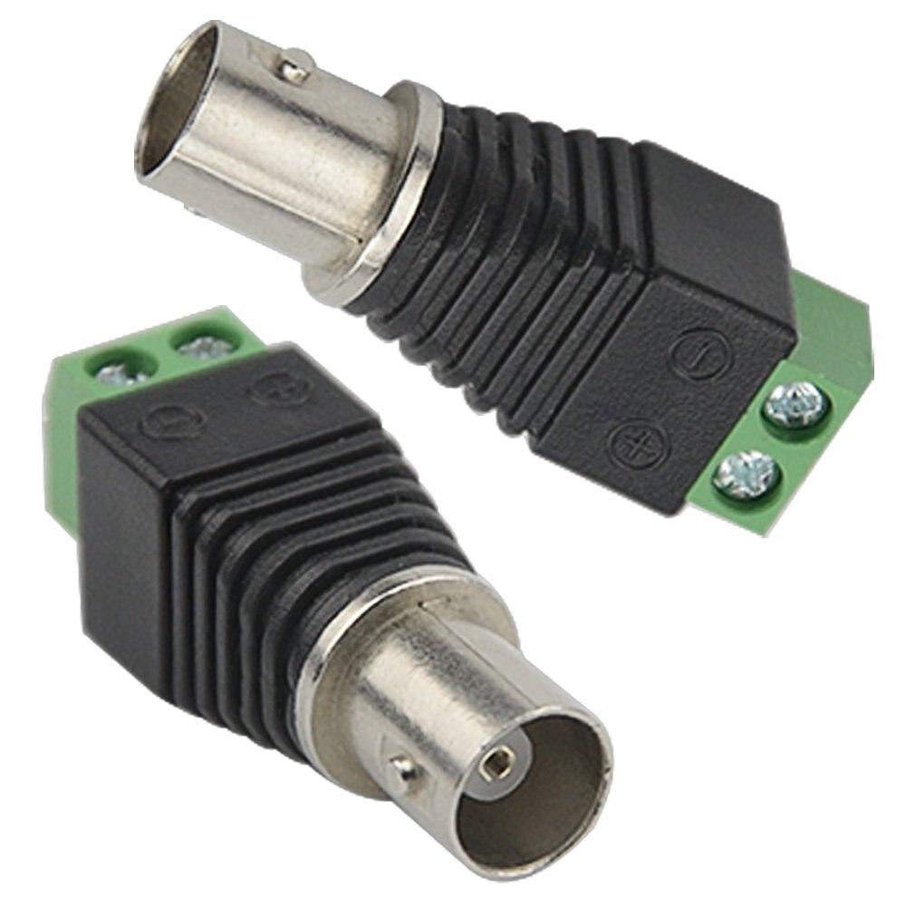 Free Shipping10PCS BNC Connectors For AHD Camera CVI Camera TVI Camera  CCTV Camera Coaxial/Cat5/Cat6 Cables Surveillance System